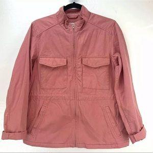 GAP Utility Cargo Jacket Size Medium Pink Pockets